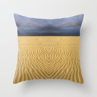 sand Throw Pillows featuring Sand by MyLove4Art