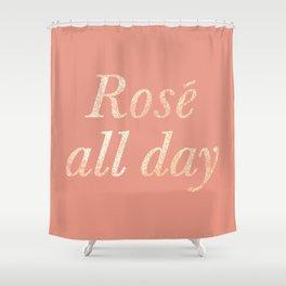 Rosé All Day Shower Curtain