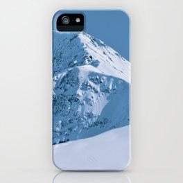 Winter Mountains in Glacier Blue - Alaska iPhone Case