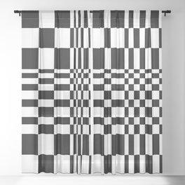 Abstraction_MINIMAL_01 Sheer Curtain