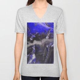 Purple Blue Lightning Unisex V-Neck