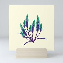 LAVENDER FLOWERS MINIMAL Mini Art Print