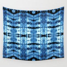Indigo Satin Shibori Wall Tapestry