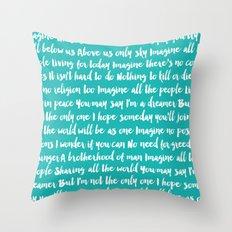 Imagine Song Throw Pillow