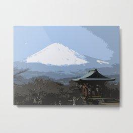 Fujiyama Tourism Metal Print
