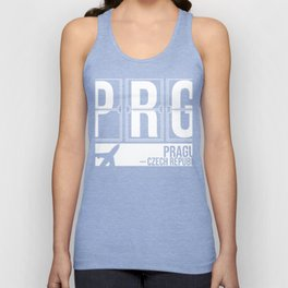 PRG - Václav Havel Airport Prague - Airport Code Souvenir or Gift Design   Unisex Tank Top