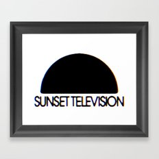 Sunset Television Logo Framed Art Print
