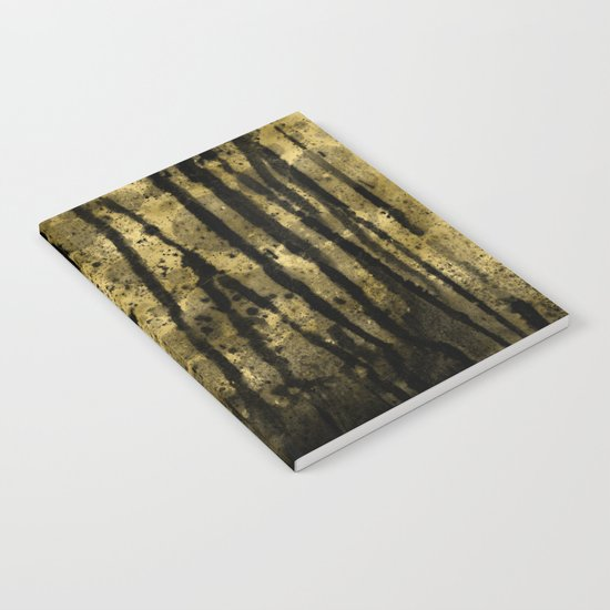 Black and Gold grunge modern abstract backround Notebook