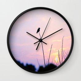 Humming Bird Silhouette  Wall Clock