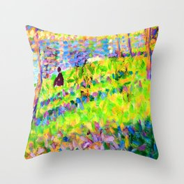 Georges Seurat La Grande Jatte Throw Pillow