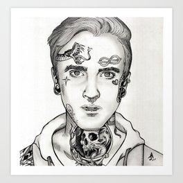 Draco Malfoy/Tom Welton Tattooed Portrait Drawing Art Print