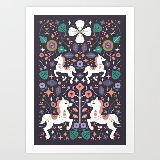 Prancing Ponies Art Print