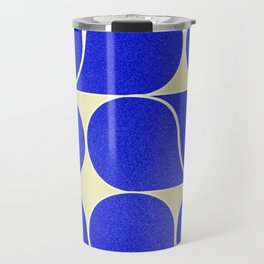Blue mid-century shapes no8 Travel Mug