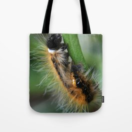 Fuzzy Caterpillar Tote Bag