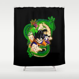 Goku and Friends Shower Curtain