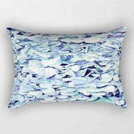 Pastel Blue FLowers Rectangular Pillow