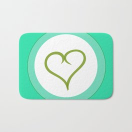 Green Heart with Love Bath Mat