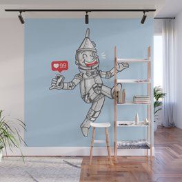 WE CAN'T LIVE WITHOUT SOCIAL MEDIA Wall Mural