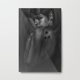 Queen of Shadows Metal Print