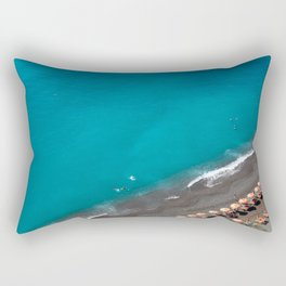 Positano Beach Umbrellas Rectangular Pillow