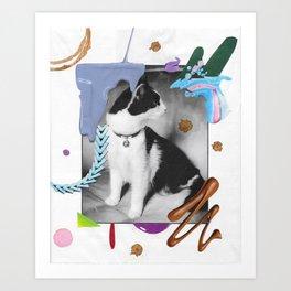 Gato: Zippy Art Print