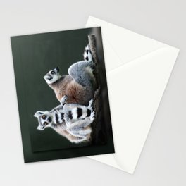 Ring Tailed Lemurs Stationery Cards