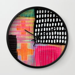 sometimes it all works - abstract painting Wall Clock