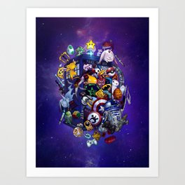 Pop Culture TARDIS Art Print