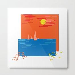 Sea boats Metal Print