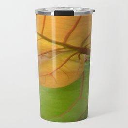 Sea Grape Leaves Travel Mug