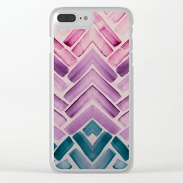 Decor Colorful Watercolor Abstract Pattern Clear iPhone Case