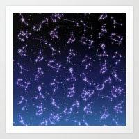 constellation Art Prints featuring CONSTELLATION by CLUB GALAXY