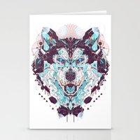 husky Stationery Cards featuring husky by yoaz