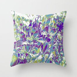 Popped Field of Daisies Throw Pillow