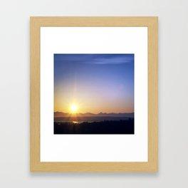 Seattle Dawn and Lake Framed Art Print