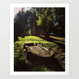 Gravestones... Art Print