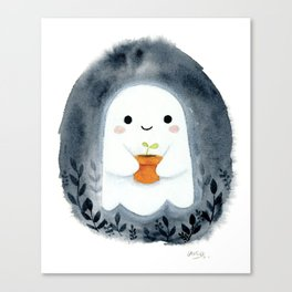 Ghost and plant Canvas Print