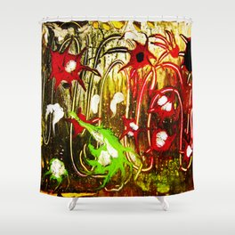 The Lights Fireworks Shower Curtain