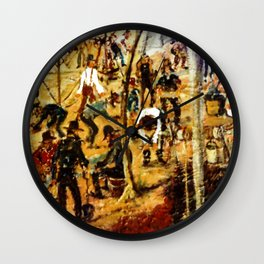 Gold Mining Frenzy, AUSTRALIA         by Kay Lipton Wall Clock