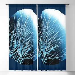 THE BLUE MOON Blackout Curtain