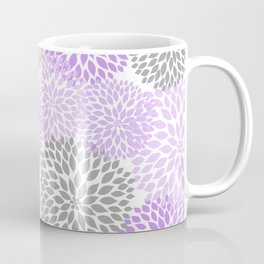 Lavender gray dahlias floral art Coffee Mug