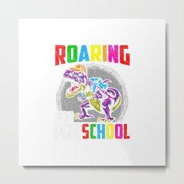Preschool Colorful Trex Dinosaur Prek Teacher Humor T-Shirt Metal Print