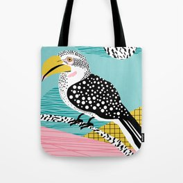 What - memphis tropical retro neon throwback 1980s 80s style hipster abstract bird vacation nature Tote Bag