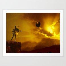 Black Balloon Art Print