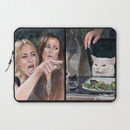 Woman Yelling at Cat Meme-3 Laptop Sleeve