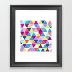 Multi Colour Triangle; Framed Art Print