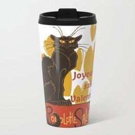 Joyeuse saint Valentin Le Chat Noir Parody Travel Mug