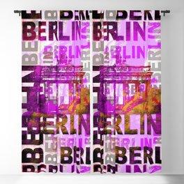 Berlin pop art typography illustration Blackout Curtain
