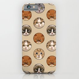 Polka Meaw iPhone Case