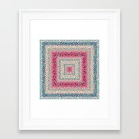 square Framed Art Prints featuring Square by Truly Juel